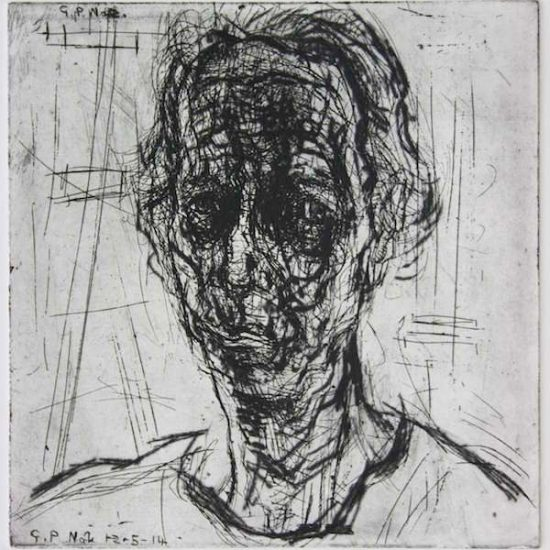 David_ Fairbairn_ Portrait of G.P. No2_ Copper Etching & Drypoint on Hahnemuhle_30 x29 cms _2014 IMG_2935