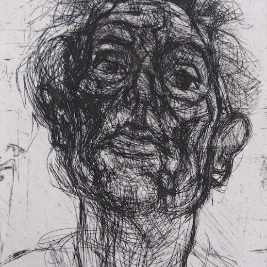 Fairbairn_david_ Auto-portrait No3 Copper Etching 2003 40 x30cm