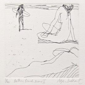 Adrian-Lockhart-bathers-beach-scene-II